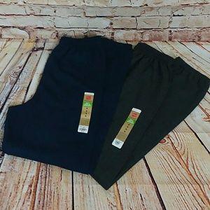 NWT- Two pair Hanes jogging pants